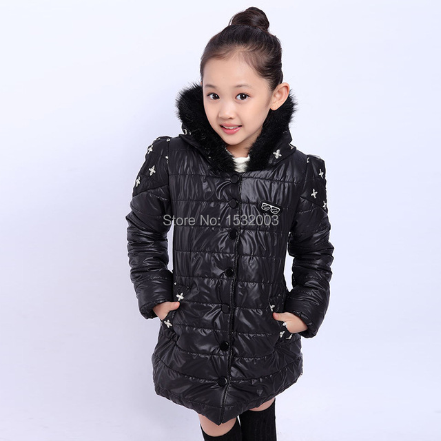 Winter Coats For Teenage Grils Cotton Padded Jackets Fur Kids ...