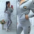 2Pcs Womens  Tracksuit Hooded Hoodies Sweatshirt Pants Sets Sportwear NEW