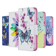Painted TPU Leather Flip Case For Huawei P30 P20 Lite 2019 P10 Wallet Cover PRO Pro Book