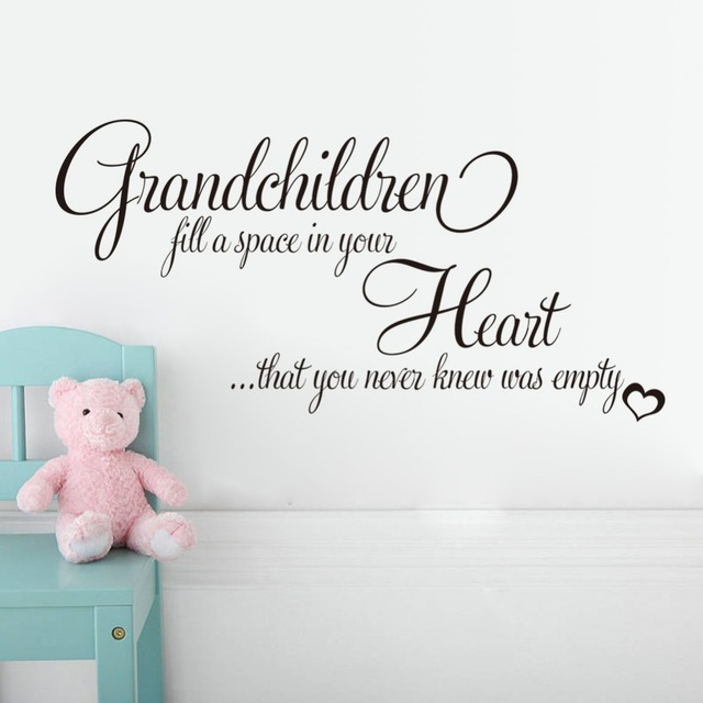 Grandchildren Fill Your Empty Heart English Quotes Wall Stickers