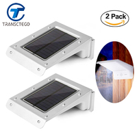 2PCS Solar Light Motion Sensor Led Battery Powered Outdoor Lighting Street Lights Luminaria Solar Lamp For