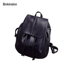 f0a966102b6e8 Bokinslon kadın sırt çantası popüler koleji rüzgar kadın çanta moda İnek  bölünmüş deri tasarımcısı sırt çantaları bayan