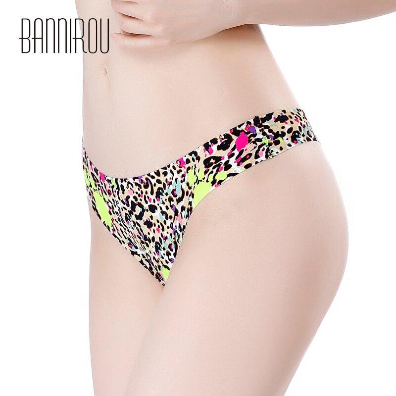 Sexy Thongs Woman Underwear Panty Leopard Female T back Soft G string 3 Pcs Seamless Print Foral Thong For Woman Underwear 2019 in women 39 s panties from Underwear amp Sleepwears