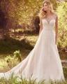 Dreagel Элегантный Благодаря Иллюзия Милая-Линии Принцесса Свадебное Платье 2017 Роскошные Жемчуг Бисером Невесты Платье Одеяние Де свадебная