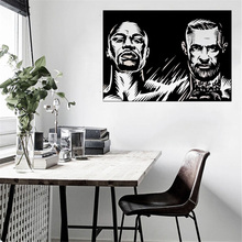 Champion Fight Poster Famous Person Modern Fashion Wall Sticker For Boys Bedroom Decor Removable Imagery DIY W409 imagery