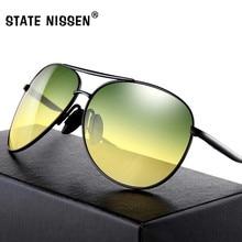 32a5294834a25 ESTADO NISSEN Gradiente Polarizada Óculos De Sol Dos Homens de Visão  Noturna Óculos de Marca Óculos de Designer de Óculos dos ho.