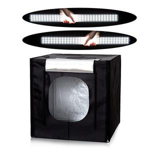 Image 3 - CY 80*80 Photo Studio LED soft box Shooting photo light tent set+3 Backdrops+dimmer switch Childrens clothing shoting tent kits