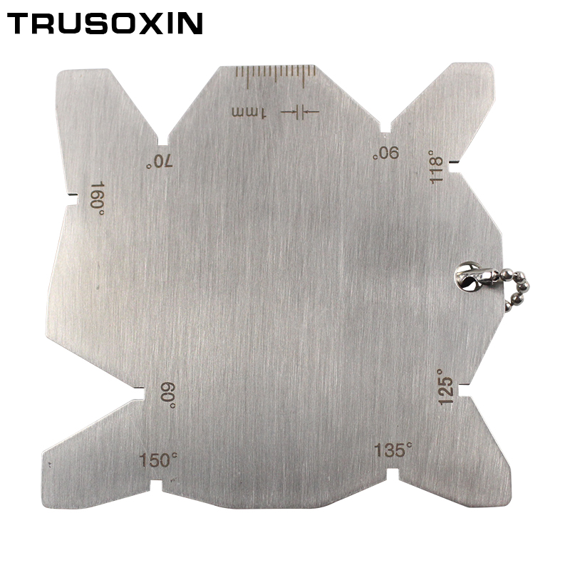 Ferramentas de solda regra parafuso rosca pitch corte machinista ferramentas torno moinho ângulo calibre gage