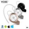 YCDC NEW A8 Mini Bluetooth Headset Wireless Headphones Earphone Casque Audio Head Phone In Ear Earbuds for iPhone Samsung Xiaomi