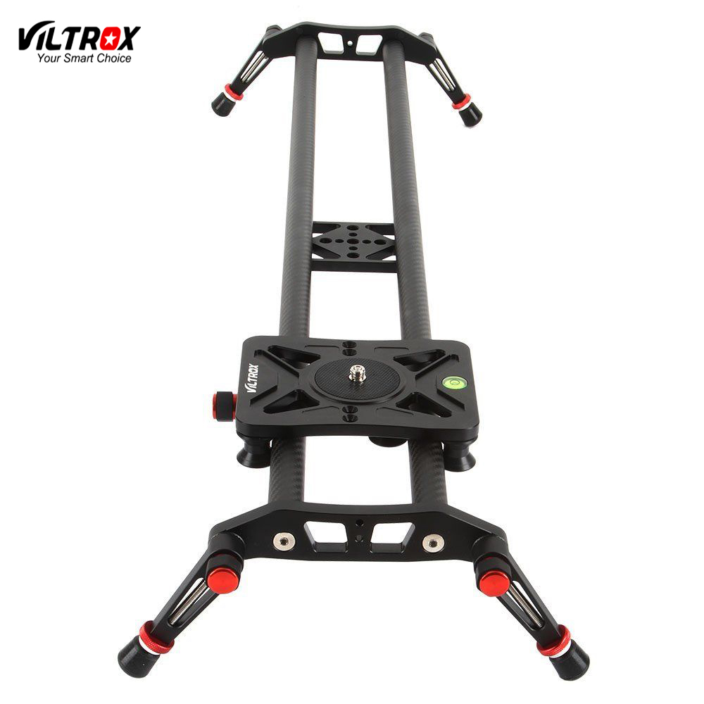Viltrox VC-80 80cm Carbon Fiber Track Dolly Rail Slider Stabilizer For Canon Nikon Sony DSLR Camera Video Camcorder fotomate lp 02 200mm movable 2 way macro focusing rail slider black