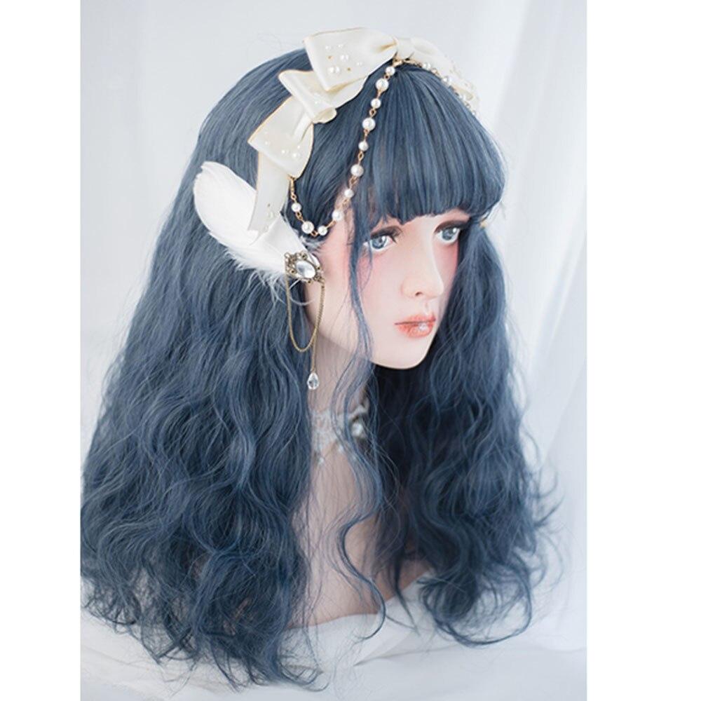 проверять его японка в синем парике фотографиями молодых