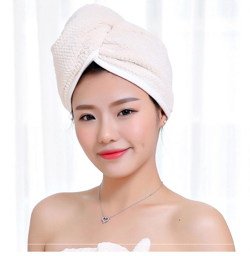 GIANTEX Japanese Polyester Cotton Women Bathroom Super Absorbent Quick-drying Bath Towel Hair Dry Cap Salon Towel 23x60cm U1031 9
