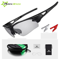 ROCKBROS Glasses Cycling Eyewear Photochromic Polarized Glasses Outdoor Sports Mountain Bike Bicycle Windproof Glasses RK0003