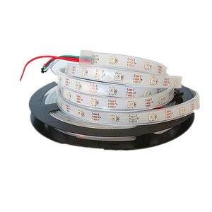 Image 4 - DC5V WS2812B 30/60/144 leds/m Smartled pixel RGB individually addressable led strip light Black/White PCB IC WS2812 pixel strips