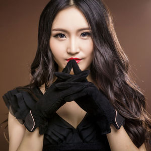 Image 2 - 2020 Brand New Fashion Women Genuine Suede Leather Fleece Gloves Winter Women Leather Gloves Female Lady Driving Leather Gloves