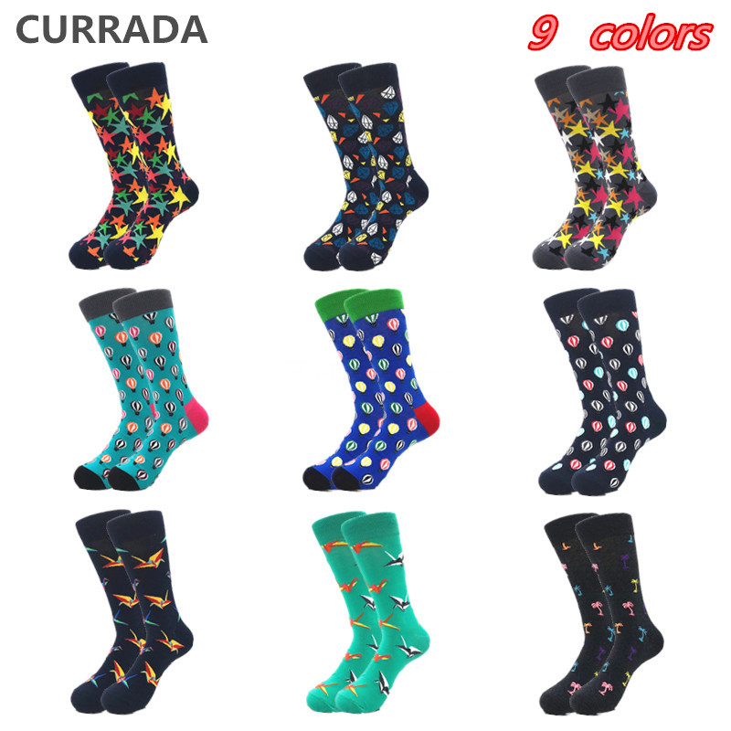 Underwear & Sleepwears Brand Quality Mens Happy Socks Combed Cotton Panda Penguin Animal Cartoon 17 Colors Funny Socks Casual Calcetines Largos Hombre
