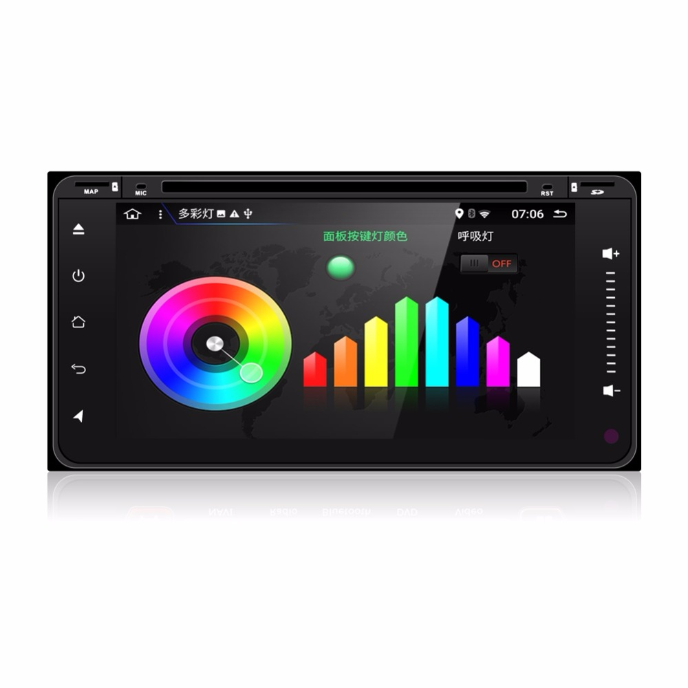 "KLYDE 6.95"" 2 Din Android 8.1 8 Core Car Radio For TOYOTA Universal Full Touch RAV4 ALPHARD 1024*600 Car Audio Stereo Player"