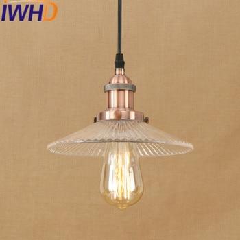 IWHD Vintage Lamp LED Pendant Lamp Loft Industrial Retro Hanging Lights Umbrella Suspension Luminaire Indoor Lighting Fixtures