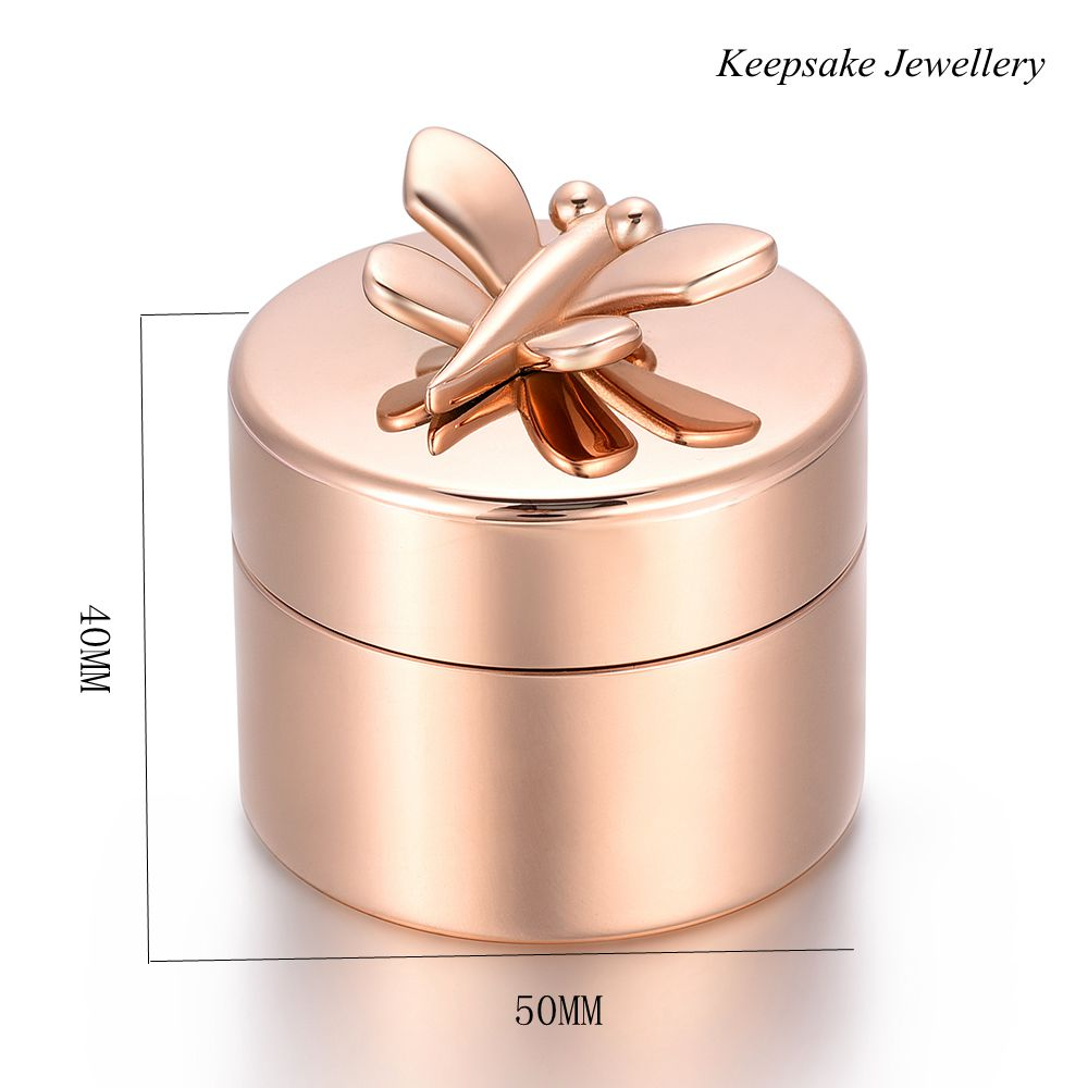 KSJ03 Adult Cremation Mini Urn For Loved Ones Ashes Butterfly Charm Rest on Cremation Jewelry Funeral