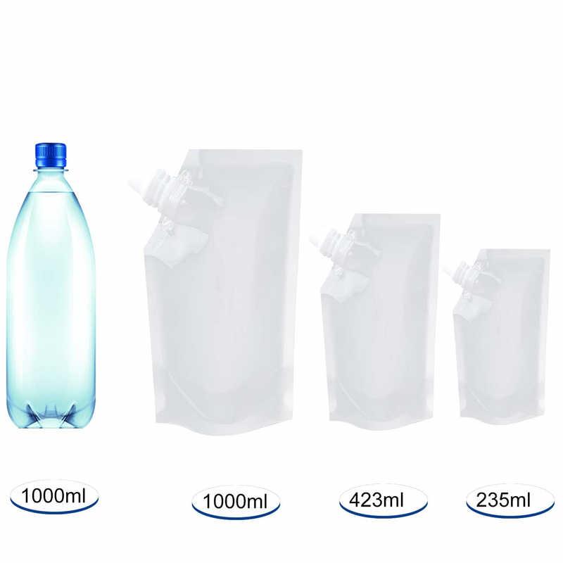 20pcs Plastic Herbruikbare Liquor Pouch Clear Zware Drankjes Kolven Camoufleerbare Drinken Kolven Cruise Zakken Kit met Trechter
