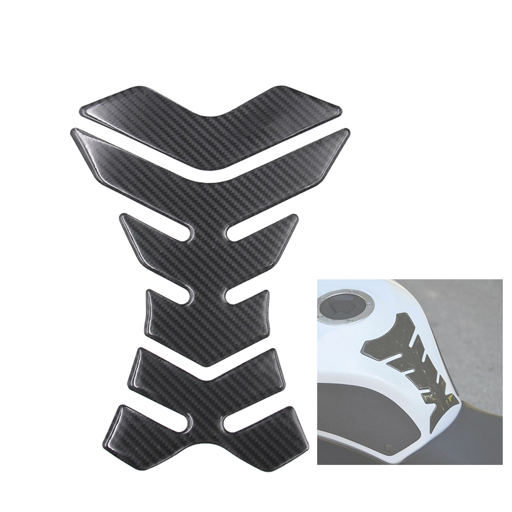 Universal Carbon Effect Resin Fishbone Protective Sticker Long Lasting Tank Pad Lightweight Adhesive Motorcycle Durable