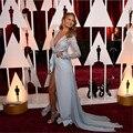 2016  NEW Chrissy Teigen Oscar Long Sleeve Celebrity Dress Vestido De Noche Red Carpet Dress
