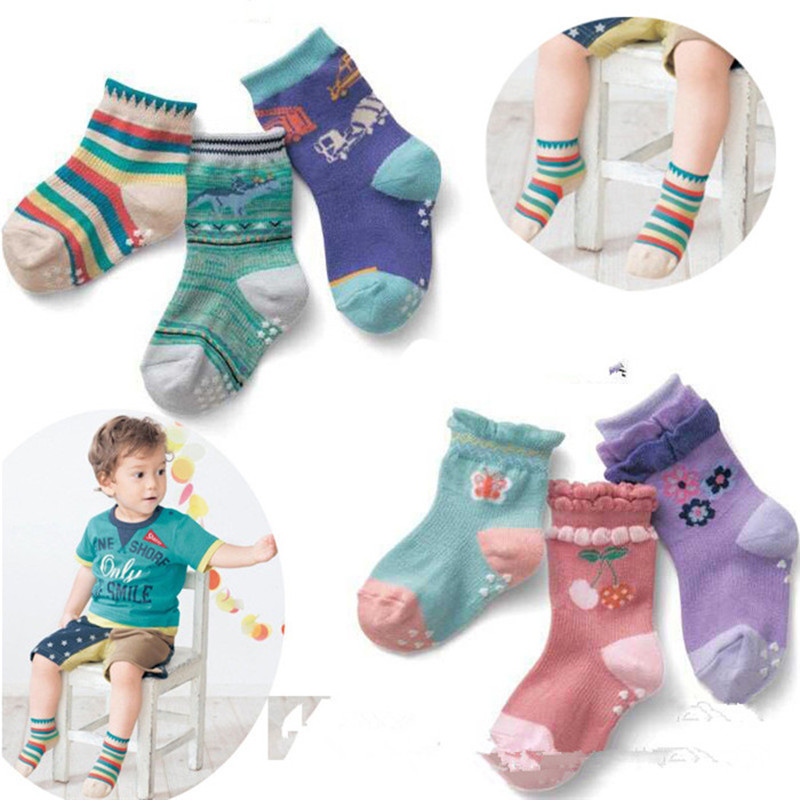 3pairs/lot Special Offer New Arrival Unisex 2016 Spring And Autumn Paragraph Childrens Socks, Baby Anti-skid Socks A-cll-003-3