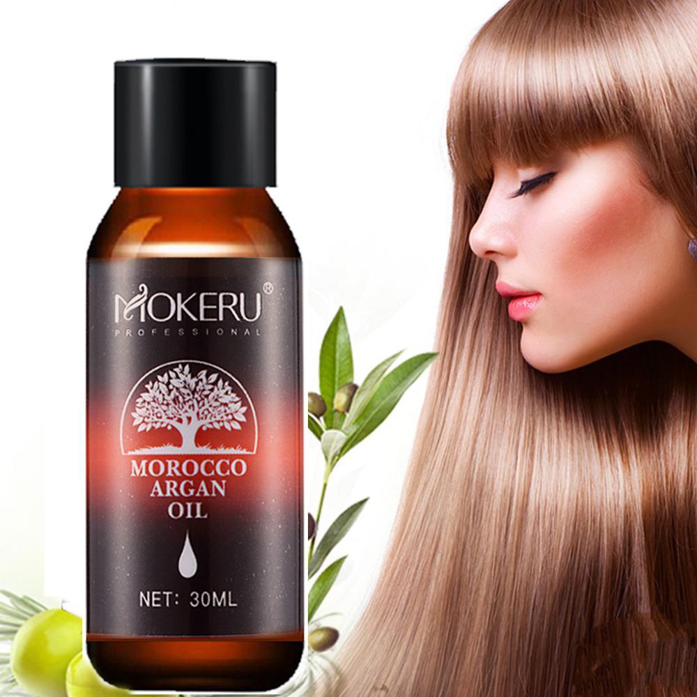 Mokeru 100% Natural Organic 30ml Morocco Argan Oil Hair Care Scalp Essential Oil For Repairing Dry Damage Hair Treatment