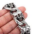 7.87'' Heavy 134g Jewelry Vintage Mens Stainless Steel Bracelet Gothic Skull Biker  Bracelet For Husband .boyfriend.father gifts