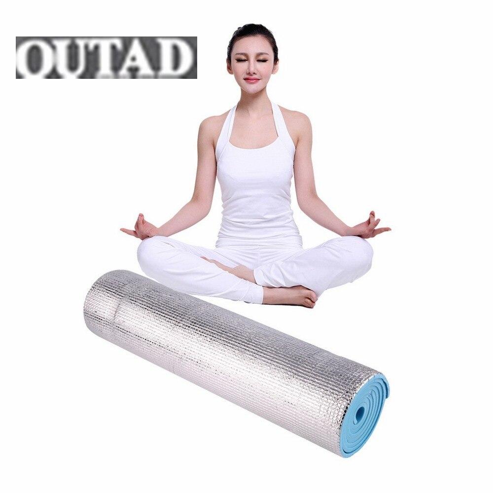 Vente chaude 180x50x0.6 cm En Aluminium Mousse Pique-Nique Yoga Fitness Exercice En Plein Air Pad Tapis