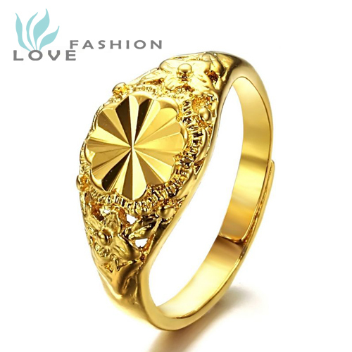 Wholesale 2015 New Hot Sales Fashion Jewelry India Gold Ring Womens