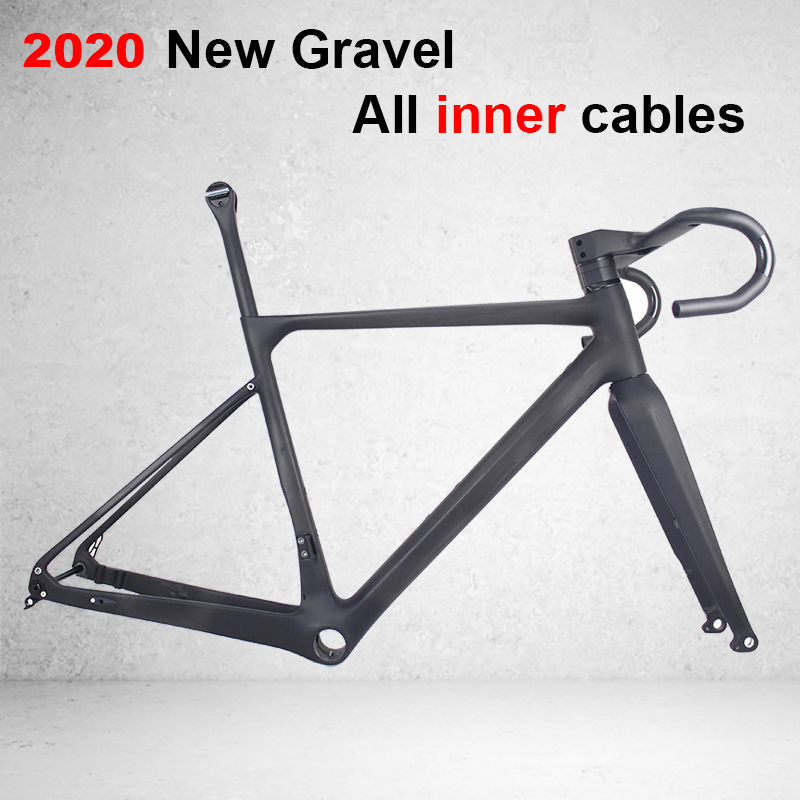 Bicycle-Frame Handlebar Gravel Bike All-Internal-Cable Full-Carbon-Gravel with Cyclecross/gr039 title=