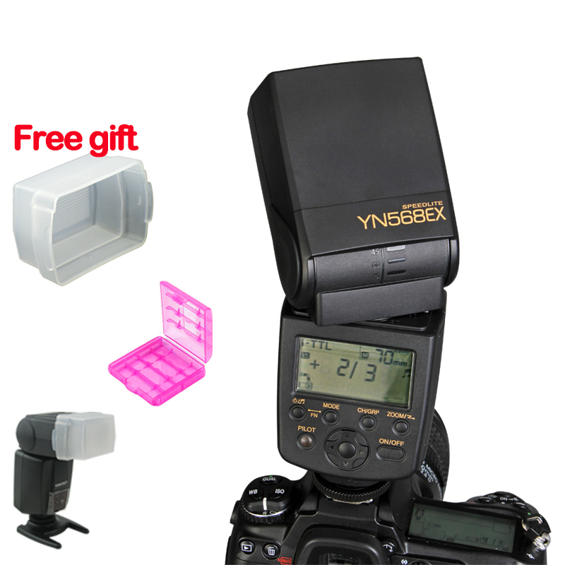 Guaranteed YONGNUO YN-568EX YN-568  EX Wireless Slave TTL Flash Speedlite for Nikon D7100 D7000 D5200 D5100 D5000 D3200 D3100 spash sl 685c gn60 wireless master slave flash light ttl speedlite for nikon lcd screen cameras flash adjustable fill light