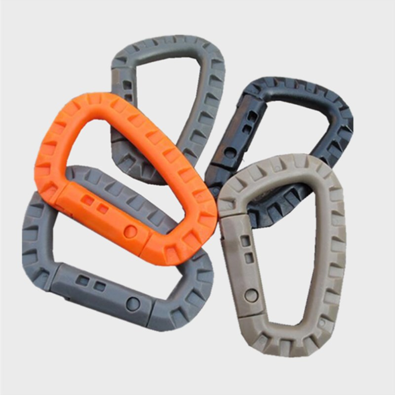 Plastic Link Carabiner Climb Clasp Clip Hook Backpack Molle System D Buckle Military Outdoor Bag Camping Climbing Accessories