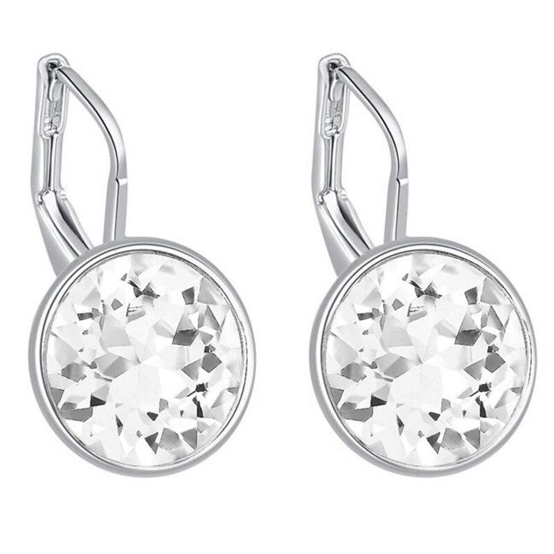 100% Cristales Originales De Swarovski Bella Mini Piercing Pendientes  Aretes de