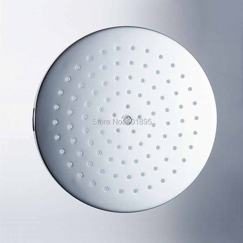 New Models High Quality Brass Material Silver Color Round and Square Shape 8 Inch Rainfall Shower Head L17186