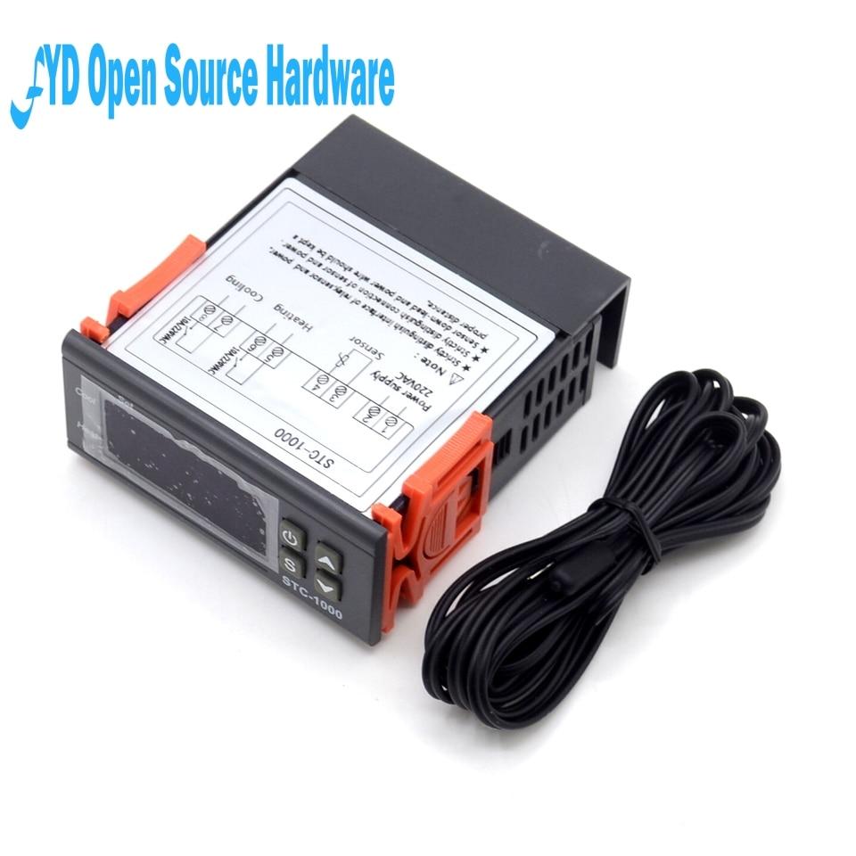 Aquarium Digital Stc 1000 Mini Temperature Controller With Sensor Wiring Diagram Stc1000 Temp Brewing Equipment Gallery Thermostat Ntc 220v