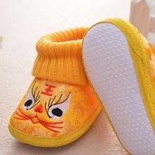 Newborn Baby Winter Shoes Girl Boy Breathable Cartoon Embroi