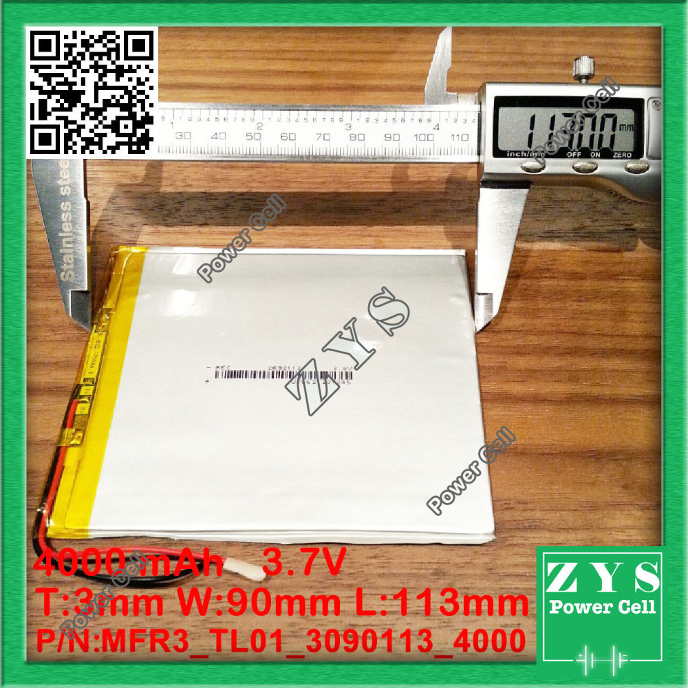 3090113 3.7V 4000mah Lithium polymer Battery with Protection Board For PDA Tablet PCs Digital Products 3x90x113mm <font><b>4000</b></font> <font><b>mah</b></font> image