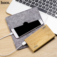 HOCO Travel Power Bank 13000mAh Dual USB Wood Grain Design Portable External Battery Charger Powerbank For