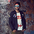 BIG GUY 4XL 5XL 6XL Plus Size Bomber Jacket Men Black Baseball Jackets Male 2016 Korean Fashion Casual Men's Autumn Jacket 1369