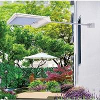 TAMPROAD Solar Powered Lamp 48LED / 56 LED Remote Control Aluminum Outdoor Waterproof Body Sensor Garden Wall Lamp Street Light