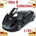 Chegada nova idéia do presente 8 1/24 sports design de metal modelo de carro diecast liga openable portas casa decoração coleção toys carro