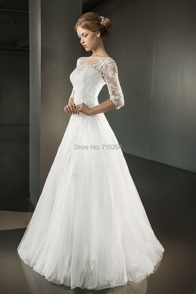 Wedding Dresses with Three Quarter Sleeves | Dress images
