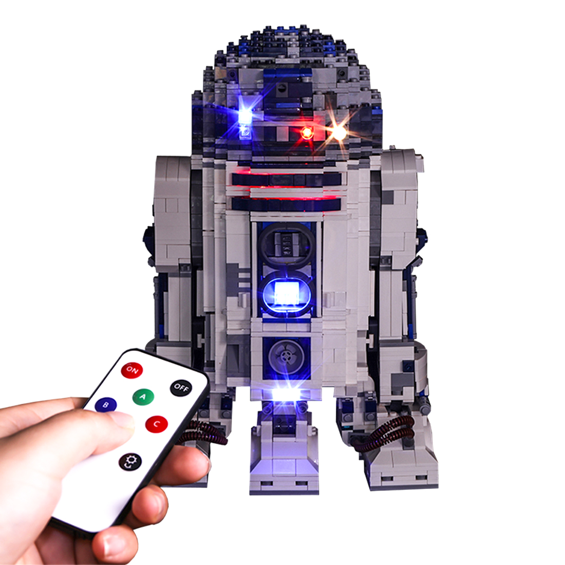 Vonado LED Light Building Block Accessory Kit for Legoed SDI R2-D2 Robot 10225 With Remote Control Switch Module ( Light Only)Vonado LED Light Building Block Accessory Kit for Legoed SDI R2-D2 Robot 10225 With Remote Control Switch Module ( Light Only)