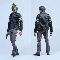 1/6 Resident Evil 6 Leon Scott Kennedy Cloth leather Coat set For 12 Action Figure Doll Body 1:6 Action Figure Clothing Access