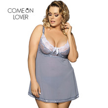 RI70149 Comeonlover Top Selling Sexy Lingerie Hot Lace Bows See Through Baby doll Sexy Lingerie Gray Color Babydoll Plus Size