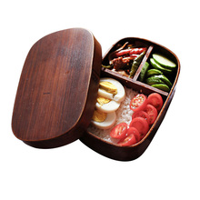 Lunch-Box Sushi Food-Container Kitchen-Accessories Fruit Japanese Portable Wood Rectangle