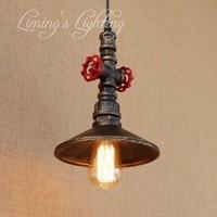 Loft W Stylu Metalu Wodociąg Wisiorek Oprawy Oświetleniowe Lampy Retro Edison Rocznika Przemysłowe Oświetlenie Jadalnia Lampy Wiszące w Wiszące lampki od Lampy i oświetlenie na
