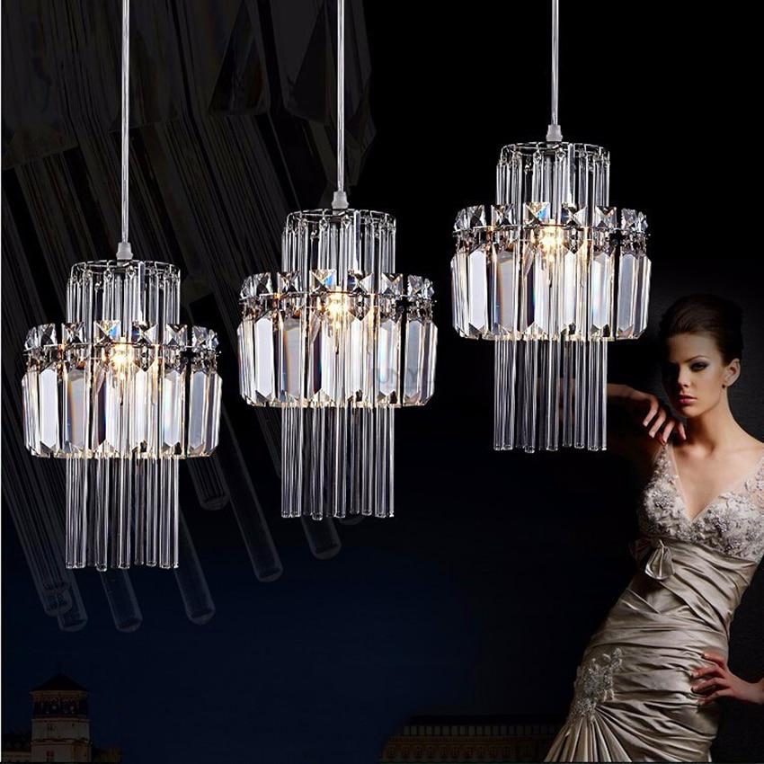 Işıklar ve Aydınlatma'ten Kolye ışıkları'de Modern Lamba Loft Kristal Led Avize Nordic Kolye Lamba Endüstriyel Parlaklık Mutfak Armatürleri Dekoratif Asılı Lamba Armatür title=